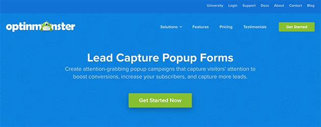 OptinMonster lead capture lightbox forms