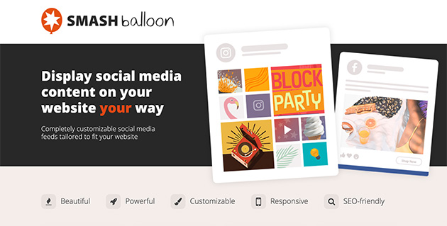 Smash Balloon social media feeds plugin