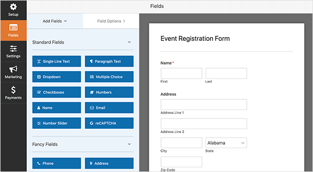 Customize your event registration form