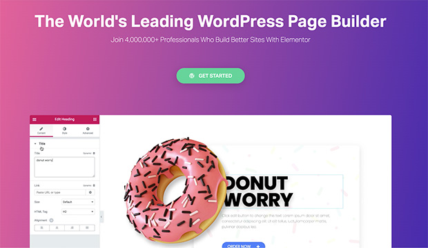 Elementor is the best WordPress website builder for web designers