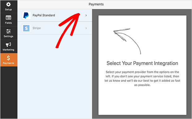 Form payment settings