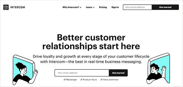 Intercom customer relationship platform