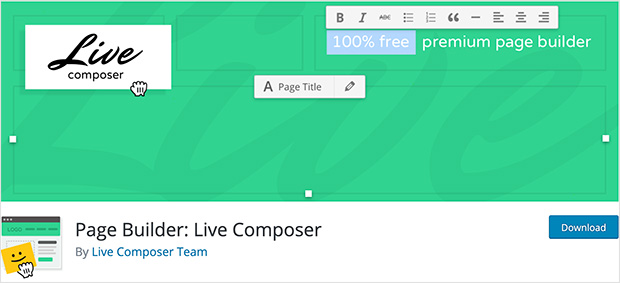 WordPress page builder live composer