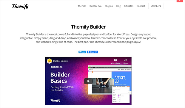 Themify best free WordPress page builder plugin
