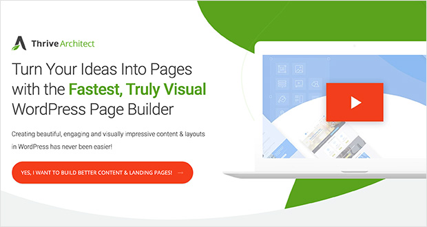 Thrive architect best WordPress page builder for growth hackers