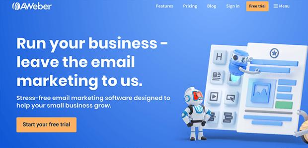 AWeber email newsletter service provider
