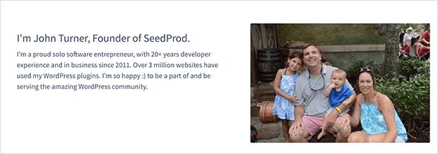John Turner, SeedProd's Founder