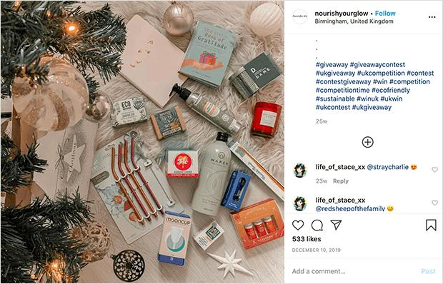 Instagram contest promotion
