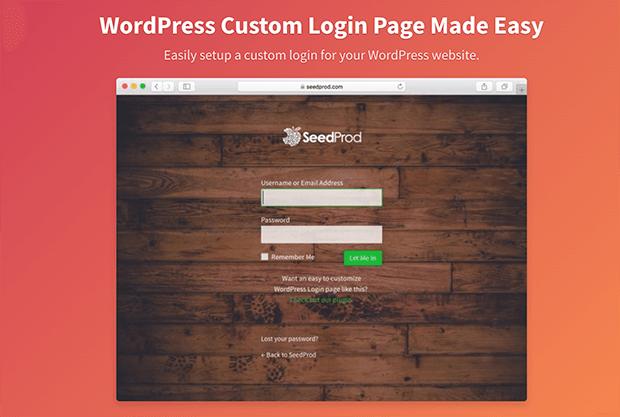 Login page pro WordPress plugin