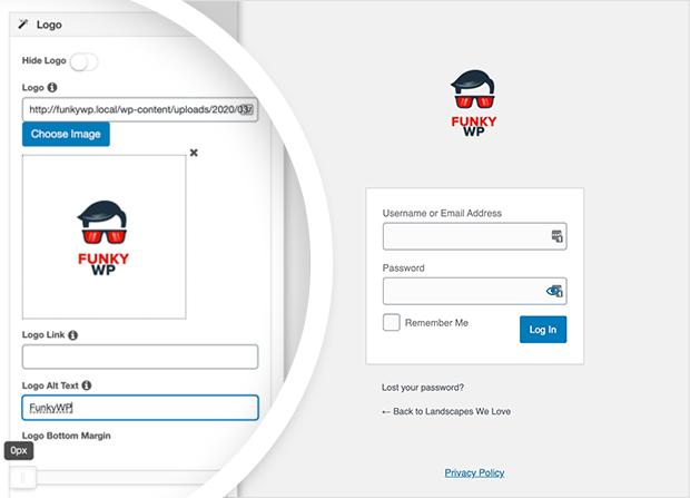 Adjust your logo alt text and margins