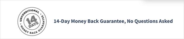 landing page best practices: money back guarantee