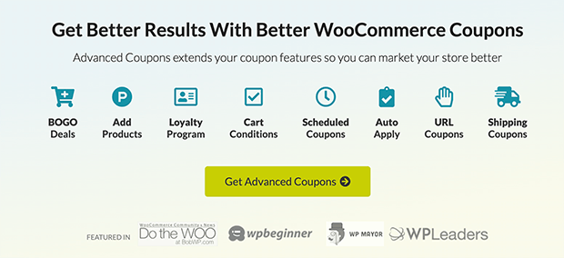 Best WooCommerce plugin, Advanced Coupons