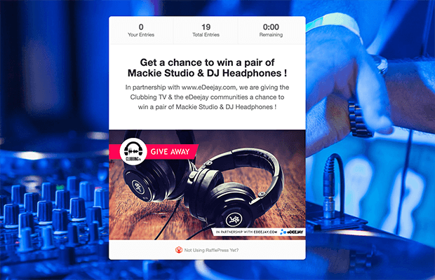 Brand partnership giveaway landing page example