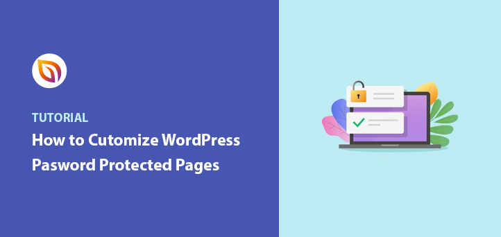 customize password protected page wordpress