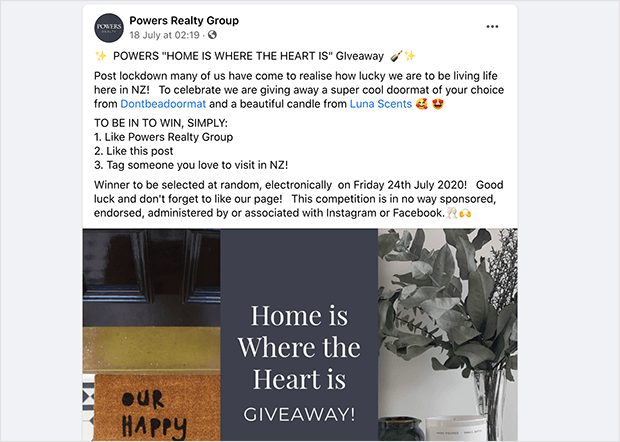Visit a facebook group, giveaway idea