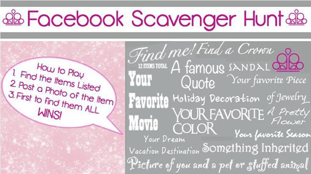 Facebook scavenger hunt giveaway ideas