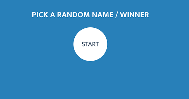 Click the start button to draw a winner from a list of random names.
