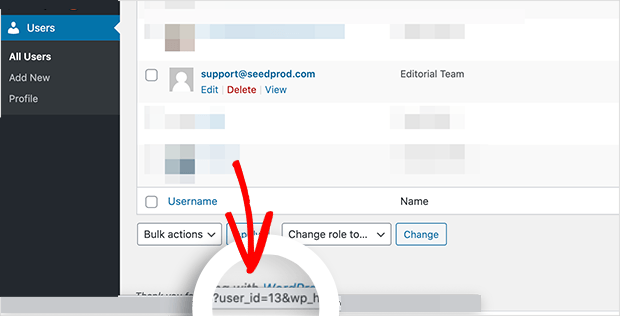 hover your mouse over a WordPress use to find the user ID number in the url at the bottom of your screen
