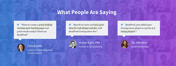 Display powerful social proof for landing page that converts