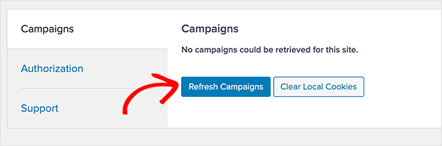 Refresh your OptinMonster Campaigns list