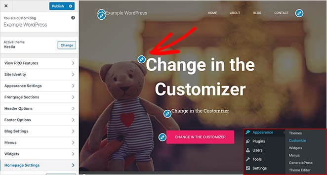 You can edit your homepage in the WordPress live theme customizer