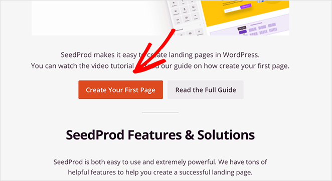 Create your first simple landing page