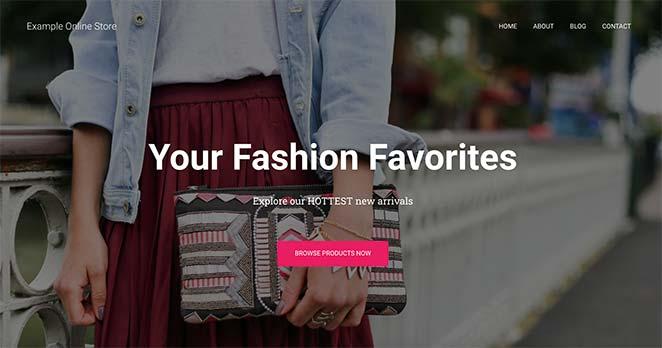 Preview of a custom WordPress homepage using WordPress theme customizer