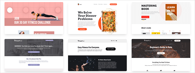 SeedProd sales page templates for WordPress