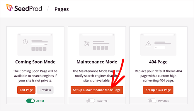 Set up a maintenance mode page in WordPress