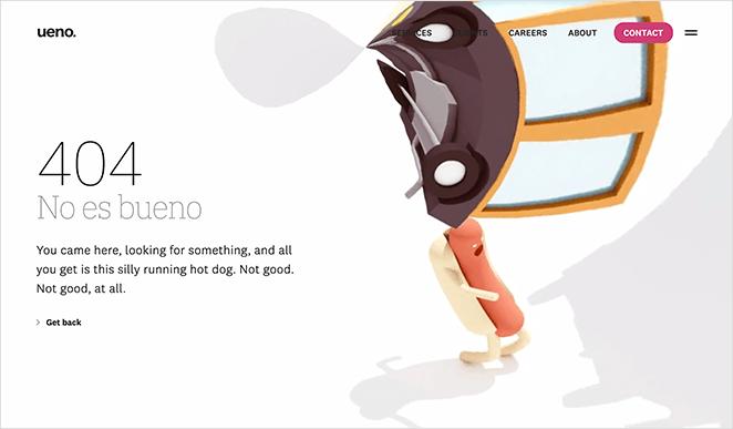 Ueno creative 404 page example