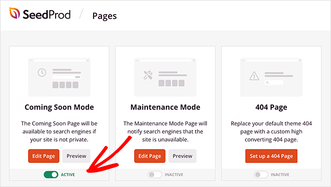 enable maintenance mode in WordPress to protect pages