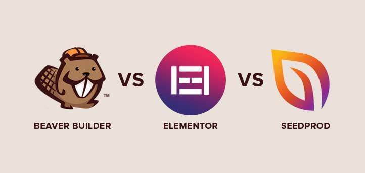 Beaver Builder vs Elementor vs SeedProd WordPress page builders