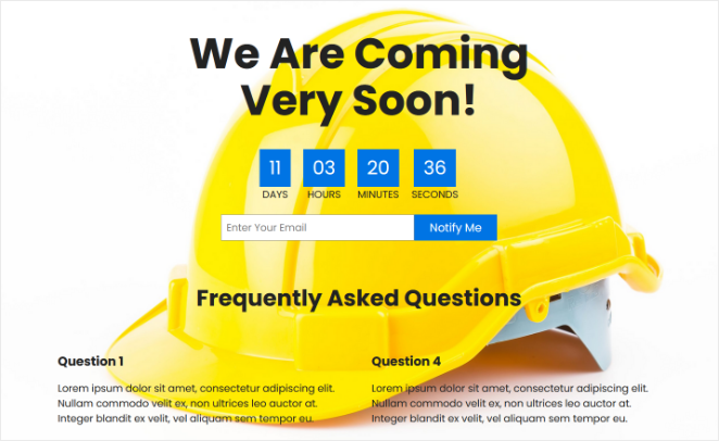 Preview your custom under construction page in WordPress