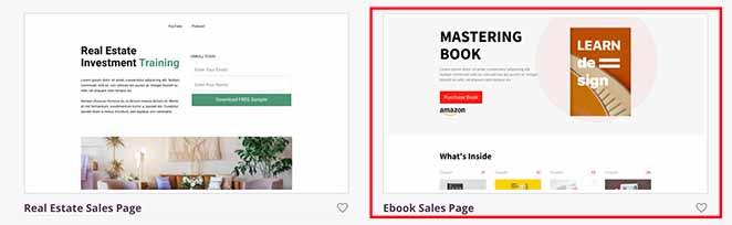 ebook sale page template