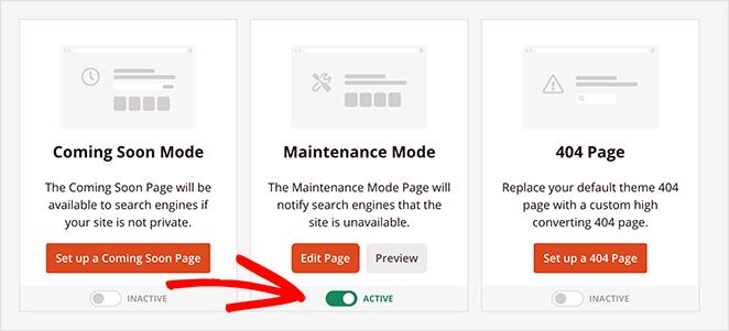 Enable maintenance mode