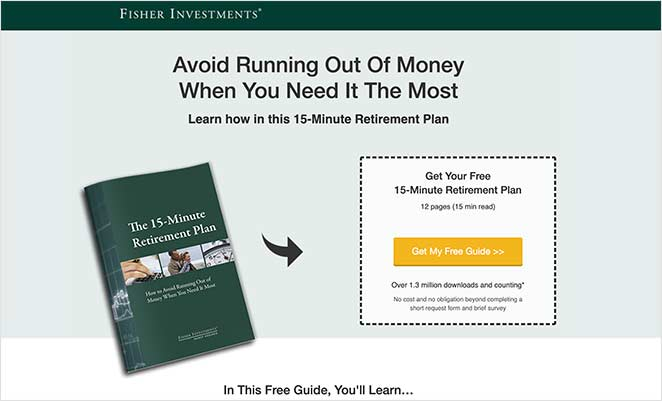 Fisher Investments ebook squeeze page example