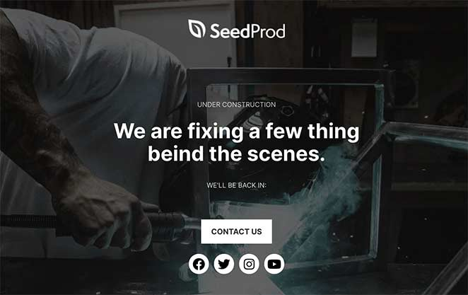 seedprod maintenance mode templates