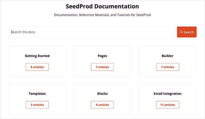 SeedProd documentation and support