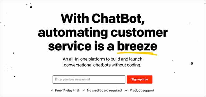 ChatBot live chat for small businesses