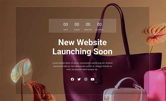SeedProd fashion coming soon page template