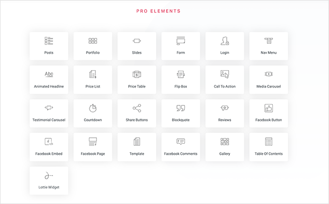 Elementor Pro Features
