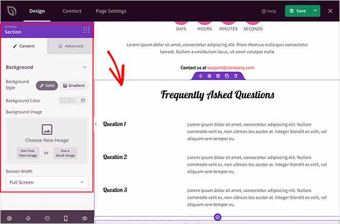 add a FAQ section to your mobile landing page
