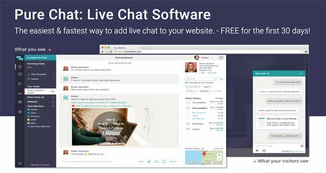 Pure chat free live chat software