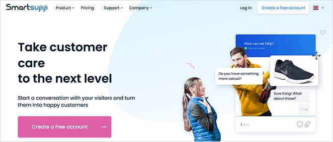 Smartsupp low cost live chat software