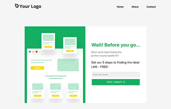 Lead Squeeze Wait landing page template WordPress