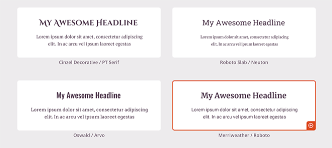 font themes