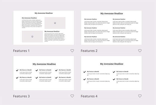 landing page sections