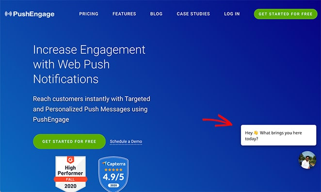 Use live chat on landing pages to boost conversion rates
