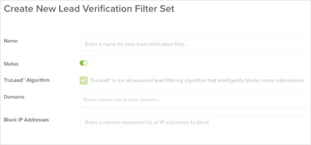 OptinMonster TruLead™ verification system