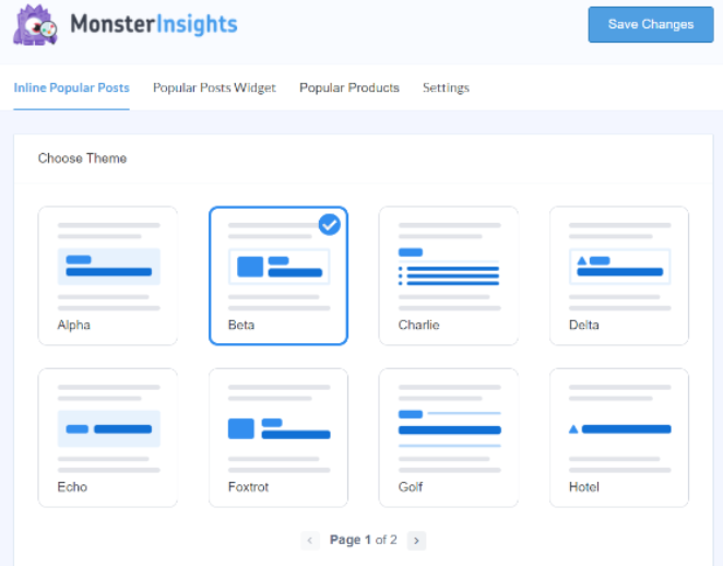 Customize popular post settings in MonsterInsights